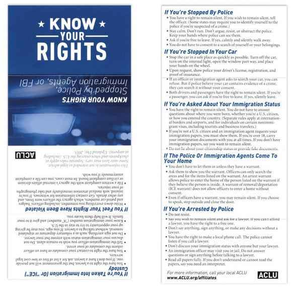 Know Your Rights- Immigration