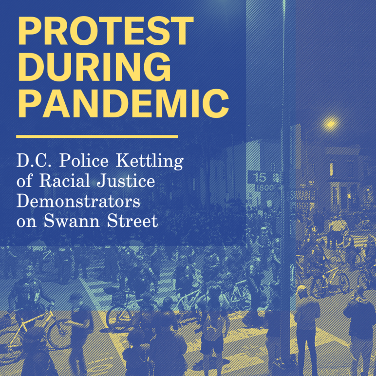 protest during pandemic graphic