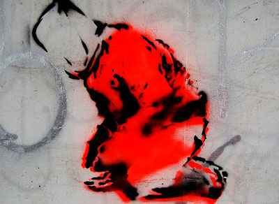 Street art of Guantanamo prisoner