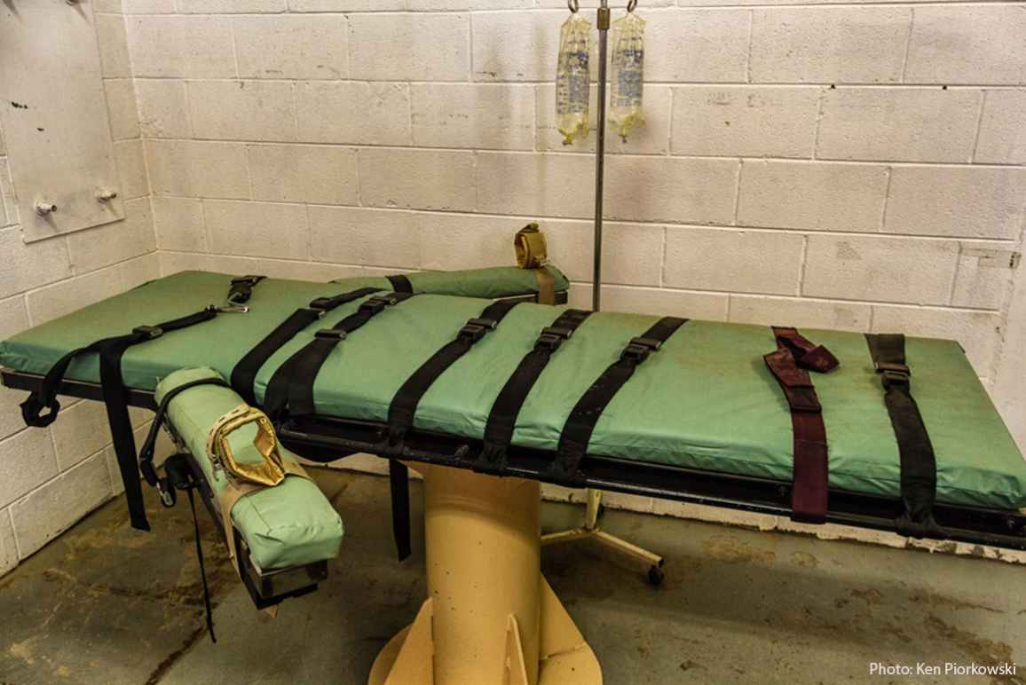 image of a lethal injection table