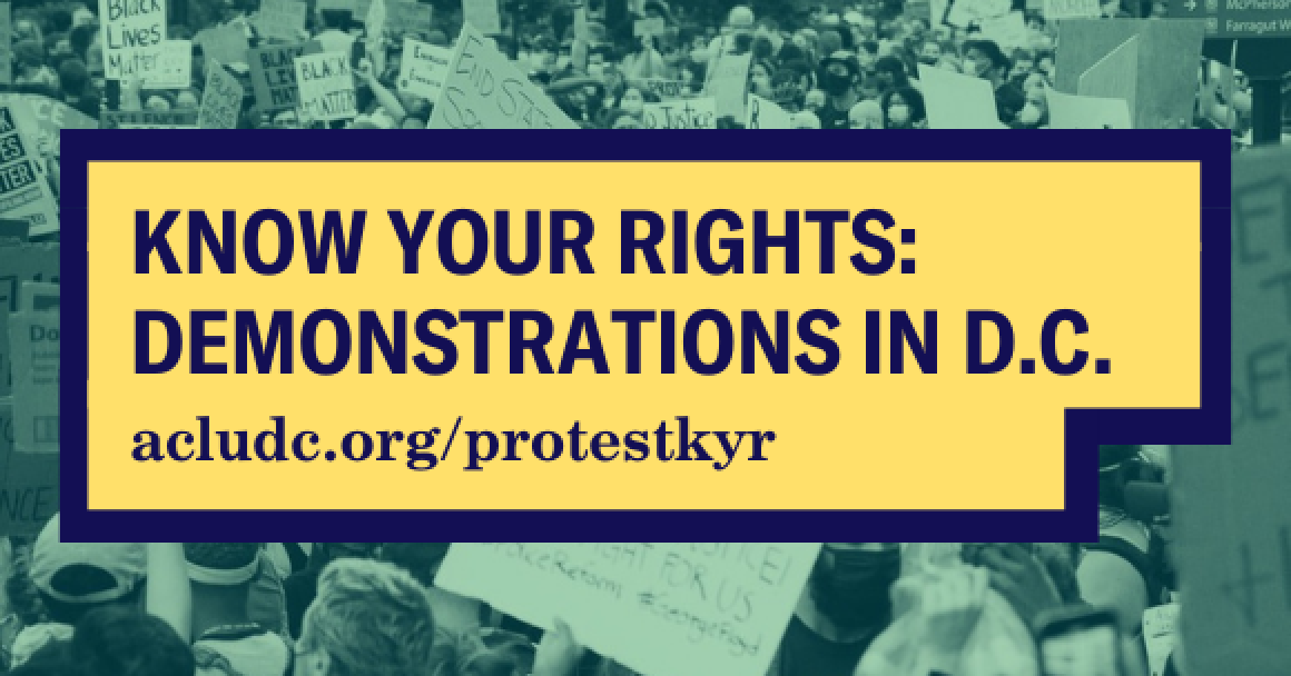 know your rights: demonstrations in dc title