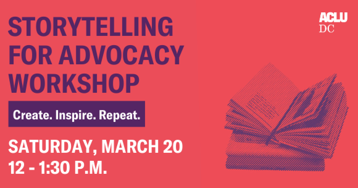 STORYTELLING FOR ADVOCACY WORKSHOP graphic