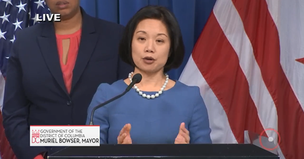 US Attorney for DC Jessie Liu speaking at press conference