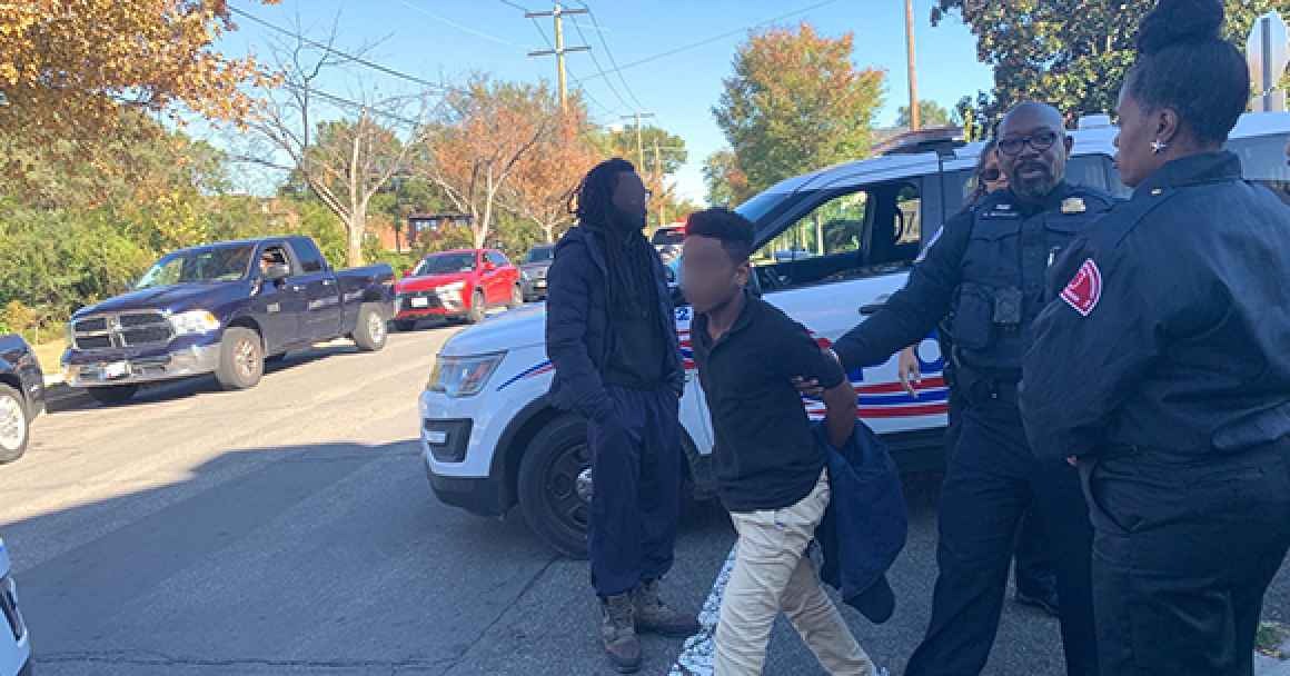 photo of DC Police officer without mask arresting an individual