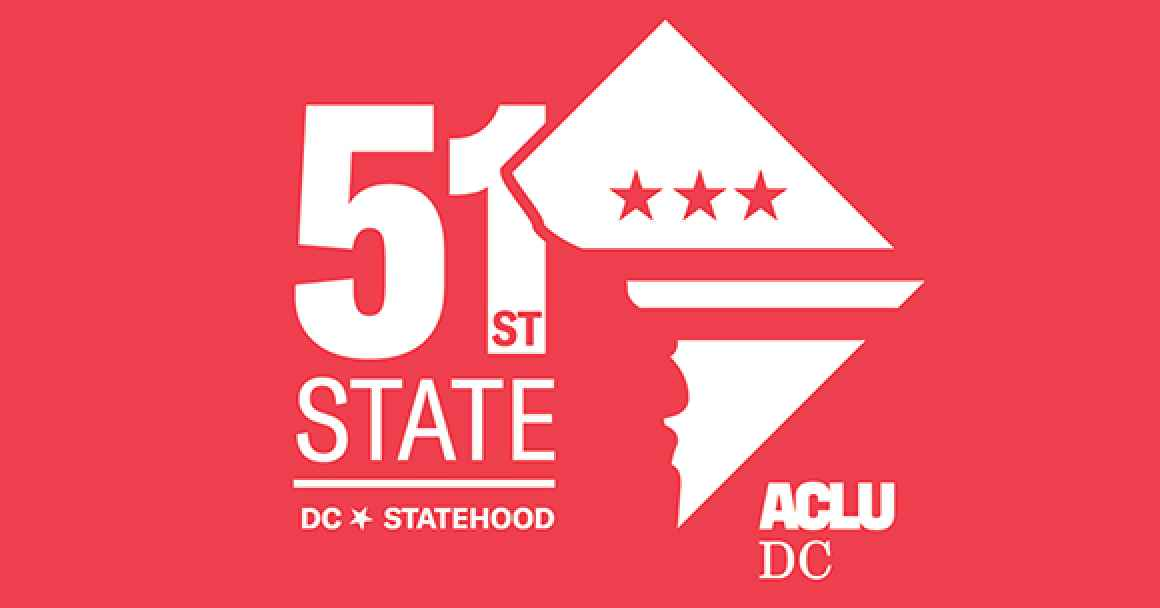 red DC Statehood logo