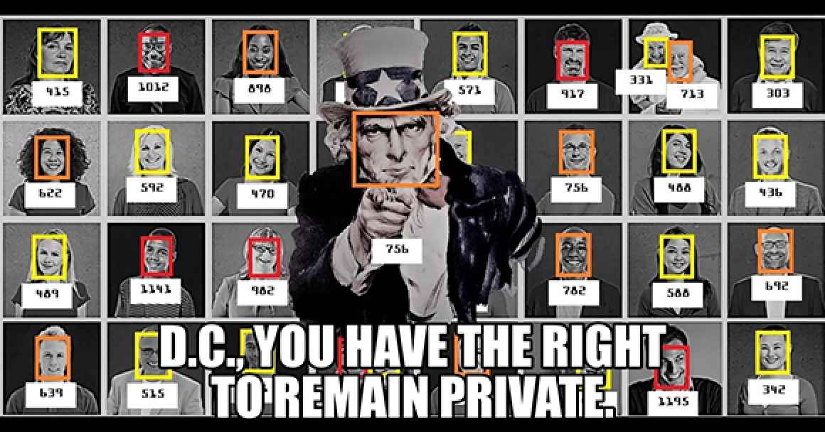picture of uncle sam with facial recognition boxes on his face